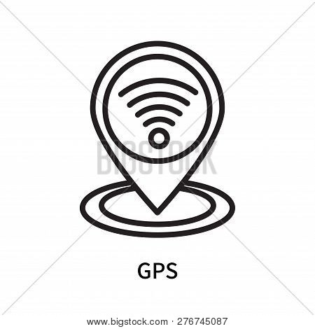 Gps Icon Isolated On White Background. Gps Icon Simple Sign. Gps Icon Trendy And Modern Symbol For G