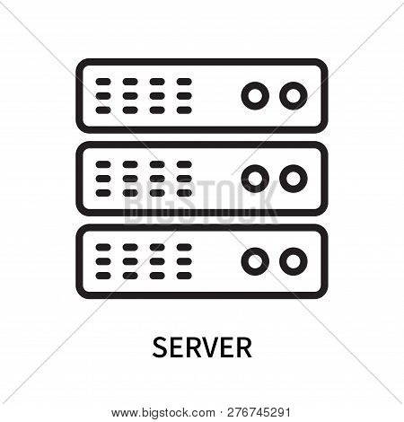 Server Icon Isolated On White Background. Server Icon Simple Sign. Server Icon Trendy And Modern Sym