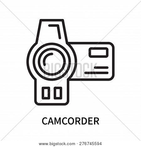 Camcorder Icon Isolated On White Background. Camcorder Icon Simple Sign. Camcorder Icon Trendy And M