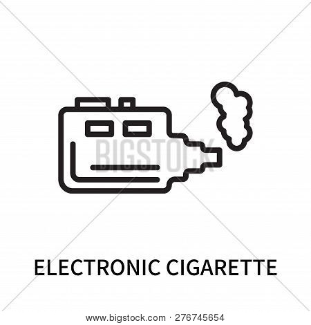 Electronic Cigarette Icon Isolated On White Background. Electronic Cigarette Icon Simple Sign. Elect