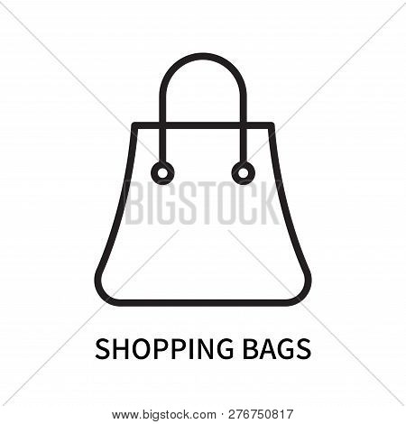 Shopping Bags Icon Isolated On White Background. Shopping Bags Icon Simple Sign. Shopping Bags Icon