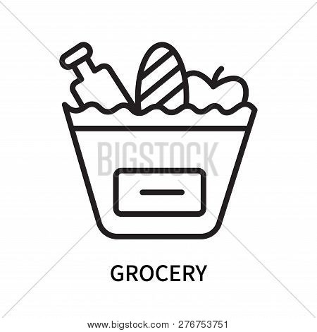 Grocery Icon Isolated On White Background. Grocery Icon Simple Sign. Grocery Icon Trendy And Modern