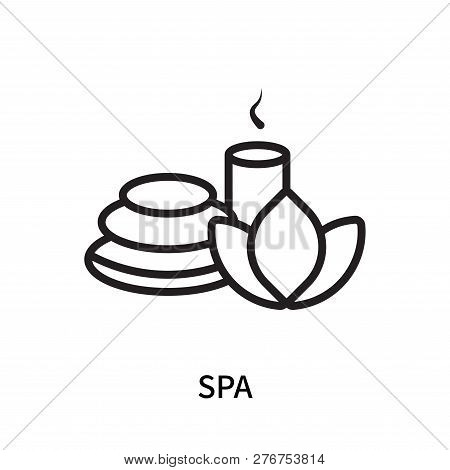 Spa Icon Isolated On White Background. Spa Icon Simple Sign. Spa Icon Trendy And Modern Symbol For G