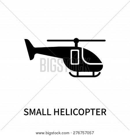 Small Helicopter Icon Isolated On White Background. Small Helicopter Icon Simple Sign. Small Helicop