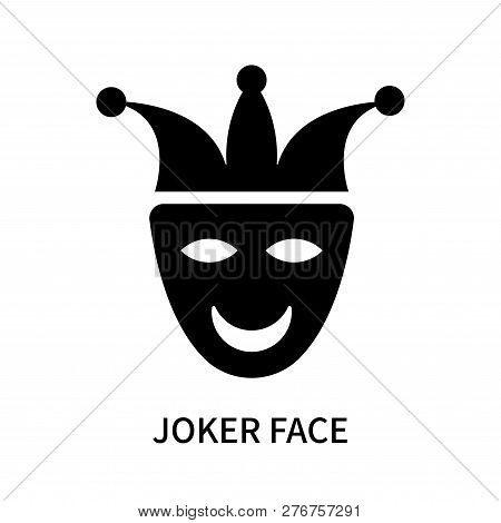 Joker Face Icon Isolated On White Background. Joker Face Icon Simple Sign. Joker Face Icon Trendy An