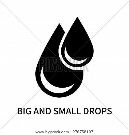 Big And Small Drops Icon Isolated On White Background. Big And Small Drops Icon Simple Sign. Big And