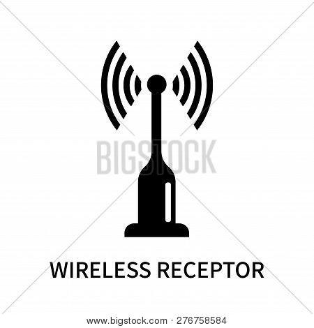 Wireless Receptor Icon Isolated On White Background. Wireless Receptor Icon Simple Sign. Wireless Re