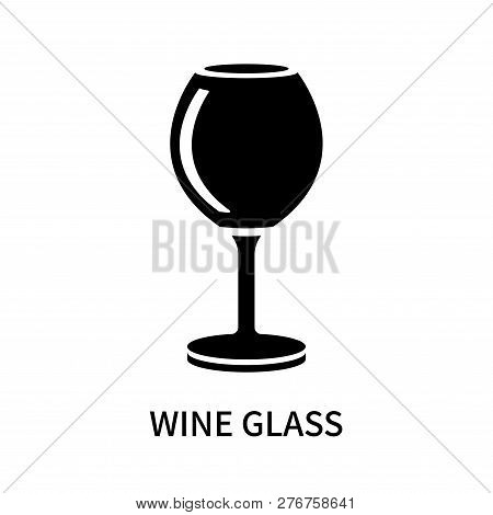 Wine Glass Icon Isolated On White Background. Wine Glass Icon Simple Sign. Wine Glass Icon Trendy An