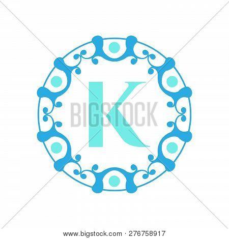 Logo, Abstract, Vintage Old Style Logo Icon Monogram. Letter K Logo. Royal Hotel, Premium Boutique,