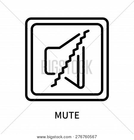 Mute Icon Isolated On White Background. Mute Icon Simple Sign. Mute Icon Trendy And Modern Symbol Fo