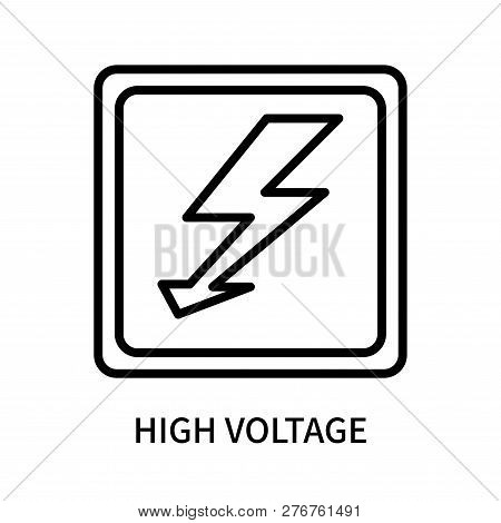 High Voltage Icon Isolated On White Background. High Voltage Icon Simple Sign. High Voltage Icon Tre