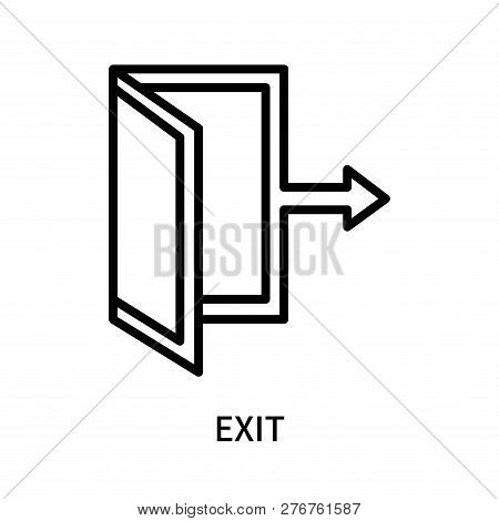 Exit Icon Isolated On White Background. Exit Icon Simple Sign. Exit Icon Trendy And Modern Symbol Fo