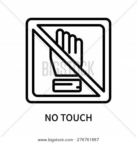 No Touch Icon Isolated On White Background. No Touch Icon Simple Sign. No Touch Icon Trendy And Mode