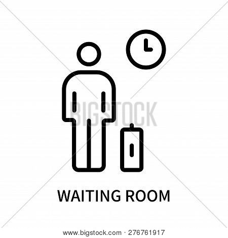 Waiting Room Icon Isolated On White Background. Waiting Room Icon Simple Sign. Waiting Room Icon Tre