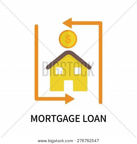 Mortgage Loan Icon Isolated On White Background. Mortgage Loan Icon Simple Sign. Mortgage Loan Icon