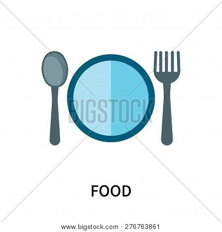 Food Icon Isolated On White Background. Food Icon Simple Sign. Food Icon Trendy And Modern Symbol Fo