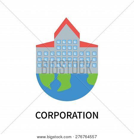 Corporation Icon Isolated On White Background. Corporation Icon Simple Sign. Corporation Icon Trendy