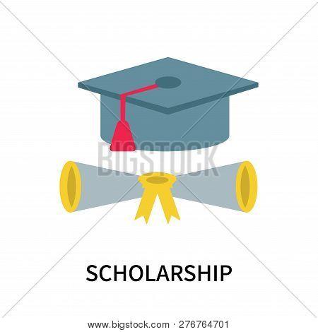 Scholarship Icon Isolated On White Background. Scholarship Icon Simple Sign. Scholarship Icon Trendy