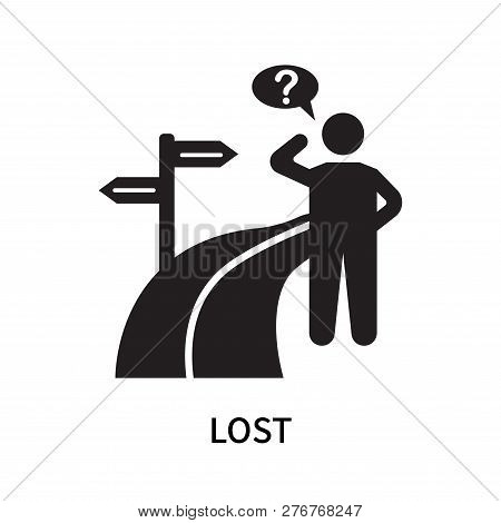 Lost Icon Isolated On White Background. Lost Icon Simple Sign. Lost Icon Trendy And Modern Symbol Fo