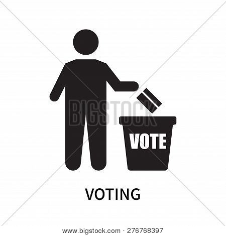 Voting Icon Isolated On White Background. Voting Icon Simple Sign. Voting Icon Trendy And Modern Sym