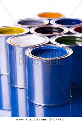 Paint and cans