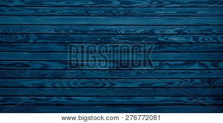 Rustic Blue Wooden Boards With Elegant Wood Grain Texture