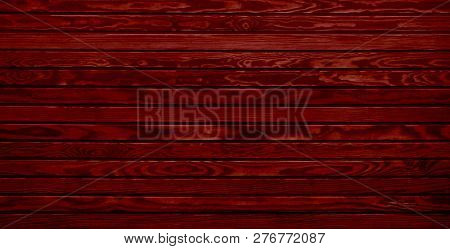 Rustic Red Wooden Boards With Elegant Wood Grain Texture For Christmas Cards