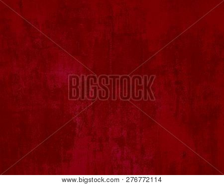 Grunge Texture With Red Color For Christmas Cards