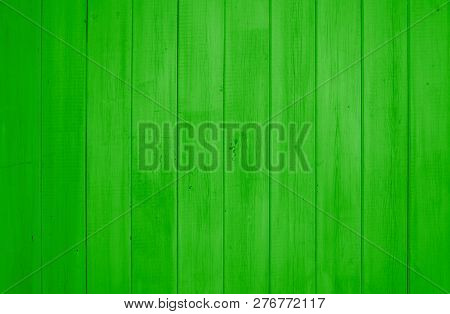 Wooden Background Texture With Light Green Planks For Ecological Concepts