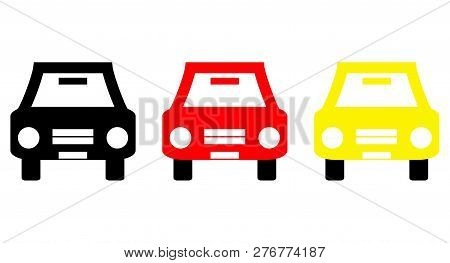 Symbols Of Three Cars With German Colors