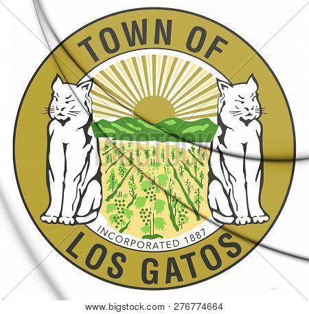 3d Seal Of Los Gatos (california), Usa. 3d Illustration.