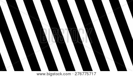Background With Diagonal Stripes In Black And White