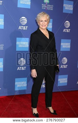 PALM SPRINGS - JAN 17:  Glenn Close at the 30th Palm Springs International Film Festival Awards Gala at the Palm Springs Convention Center on January 17, 2019 in Palm Springs, CA