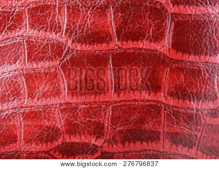 Old Red Leather Background Color Image Stock Photos
