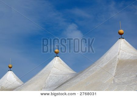 Tent Tops With Round Finials