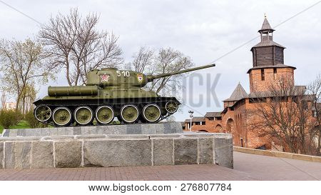 Russia - Nizhny Novgorod. 4 May: T-34 (t-34-85) Tank. An Exhibition Of Military Equipment Of Times O