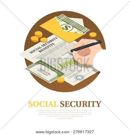 Document Execution For Social Security Benefits Isometric Round Composition With Unconditional Incom