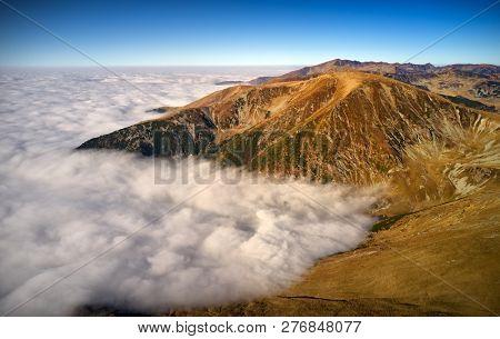 beautiful mountain landscape from the highest european road Transalpina , Romania