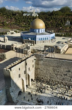 Model Of The Temple Mount In Jerusalem, Israel
