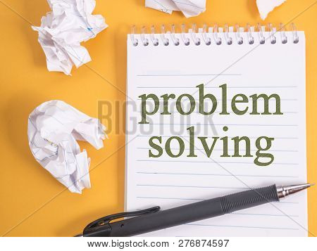 Problem Solving, Motivational Words Quotes Concept