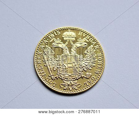 Detail View , Old Gold Coins , Ducat Austria And Hungary