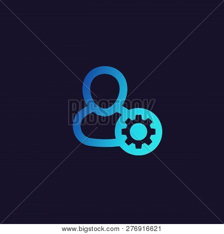 account settings vector icon, profile configuration, eps 10 file, easy to edit poster