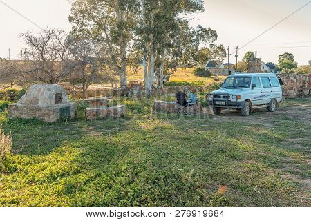Nieuwoudtsville, South Africa, August 28, 2018: A Camping Site At Matjiesfontein Farm In The Norther