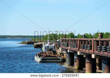 Kem, Republic Of Karelia, Russia - June 24, 2018: Pier Aista In The Village Of Rabocheostrovsk, Kem.
