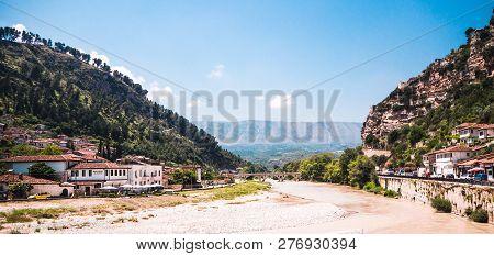 Berat, Albania- June 2018: Modern Part Of Berat City In Albania