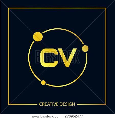 Initial Letter Cv Logo Template Vector Design