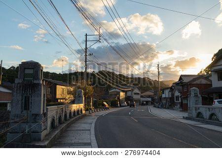 Arita, Japan - October 30, 2018:Old street in the centre of Arita town, famous for Arita yaki, Saga Prefecture
