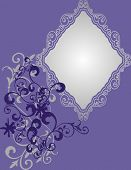 violet frame - greeting card - vector illustration poster