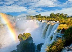 Iguazu Falls, One Of The New Seven Wonders Of Nature. Argentina.