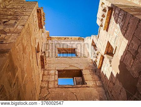 Beautiful Ancient Temple Of Medina-habu. Egypt, Luxor.